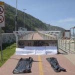 Luto: Queda da ciclovia aconteceu em abril do ano passado, matando duas pessoas; ato lembrou acidente (Foto: Tomaz Silva/Agência Brasil)