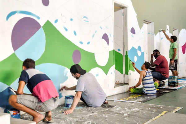 Cara nova: Mobilização aconteceu em conjunto com os alunos da unidade com o objetivo de revitalizar e renovar o ambiente (Foto: Divulgação)