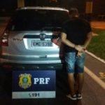 O condutor ao ser parado ficou nervoso e levantou a suspeita dos policiais (Foto: Cedida pela PRF)