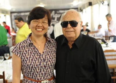 O presidente da Fundação Oswaldo Aranha, Dauro Aragão e a Magnífica Reitora do Centro Universitário de Volta Redonda, Claudia Yamada Utagawa, anfitrionam hoje, em memorável noite