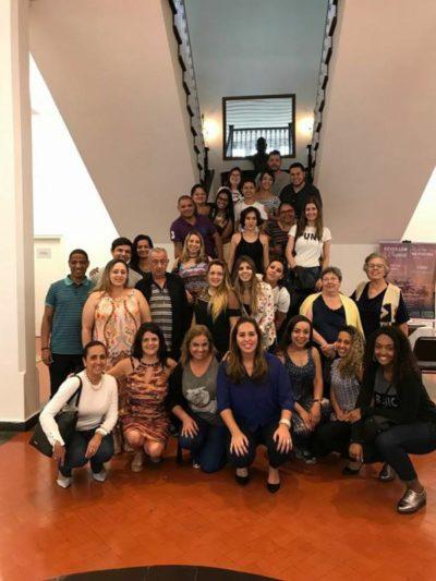 Grupo de agentes de viagens do Rio de Janeiro e São Paulo, sábado durante visita ao Hotel Bela Vista para almoço buffet e depois hospedagem no Vila Business Hotel