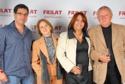 Inalto Sérgio de Araújo, a estilista Elci Guimarães Araújo e os empresários Eliane Guimarães e Ayrton Carvalho Reis (aniversariante do dia)