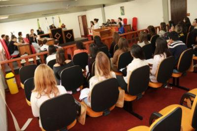 Júri Simulado, realizado no Tribunal do  campus Olezio Galotti, em Três Poços