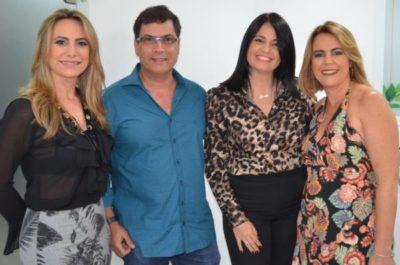 A Master Franqueada Sandra Cezareti Freitas com o empresário Inalto Sergio de Araújo, Renata Mendonça e Adriane Reis Machado