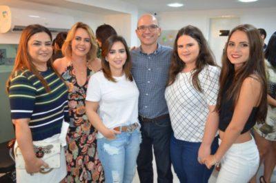 Ana Abreu, Adriane Reis Machado, Maria Abreu, José Eduardo Machado, Duda Medeiros e Bruna Reis Machado