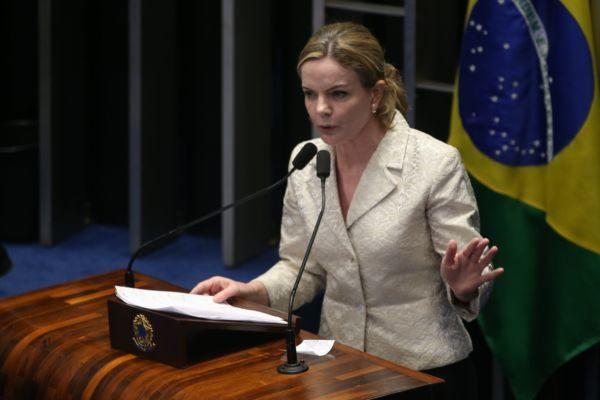 Gleisi Hoffmann é a atual presidente do PT em âmbito nacional