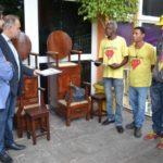 Samuca e Joselito junto com integrantes do novo projeto da prefeitura
