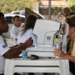 No Parque Tobogã: Beneficiários fizeram exames no dia 7 de outubro, durante segunda edição do projeto em Resende (Foto: Divulgação/Ascom PMR)