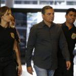 Régis Fichtner,chega preso à sede da Polícia Federal (Tânia Rêgo/Agência Brasil)