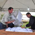 Novo turno: Apuração foi acompanhada por sindicalistas e representantes da CSN (Paulo Dimas)