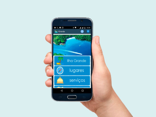 Na palma da mão: No aplicativo é possível consultar opções de hospedagem, passeios e restaurantes (Foto: Divulgação)