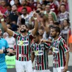 Artilheiro: Henrique Dourado comemora o gol marcado por ele que selou a vitória por 2 a 0 (Foto: Lucas Merçon / Fluminense F.C)