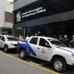 Reforço: Os veículos foram comprados com recursos próprios da prefeitura e serão utilizados pelo grupamento de Ronda Escolar (Foto: Paulo Dimas)