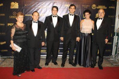 Marta Bartolomeu e Jadir Bartolomeu (aniversariante do dia), Mateus e Lucas Bartolomeu, Rita Bartolomeu e Ricardo Bartolomeu