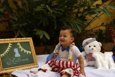 Matheus Vieira de Abreu Capra, ganhando grande festa, amanhã pelo seu primeiro ano de vida
