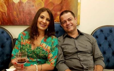 O prefeito de Piraí, Luiz Antônio e a primeira dama, Paula Tolentino