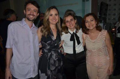 Família em comemoração: Emmanuel Nolasco, Renata Nolasco Nápoli, Raphaela Nolasco e Magda Nolasco