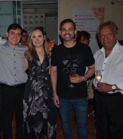 Encontro de Dentistas: Dimitri Nápoli, Renata Nápoli, Flávio Portugal e este Colunista