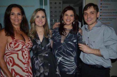 Dimitri Nápoli e Renata Nolasco Nápoli com Sonia Saade Martins e Cintia Pançardes Sad