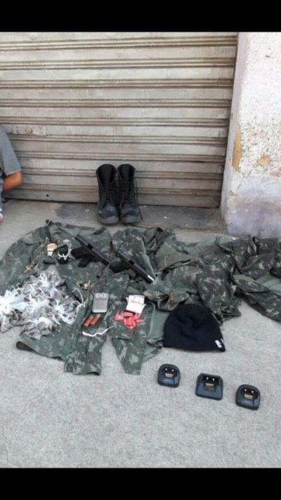 Material apreendido em operação no bairro Açude