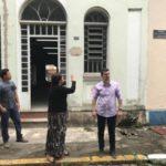 Balieiro inspecionou serviços no local que abrigará biblioteca