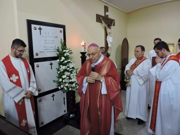 Memória: Missa foi presidida pelo bispo diocesano, Dom Francisco Biasin, na Igreja Santa Cecília, em Volta Redonda (Foto: Divulgação)