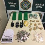 Presos estavam com drogas em ação da polícia