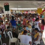 Pelo menos quatro mil refeições foram servidas para moradores do bairro São Benedito e redondezas (foto: Divulgação)