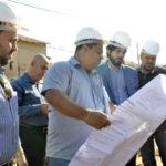 Supervisão: Prefeito se reuniu com o diretor administrativo da empresa responsável pela construção e percorreu o canteiro de obras - Geraldo Gonçalves – Secom/VR