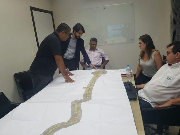 Novidade: Samuca conheceu projeto de variante que levará motoristas de Barra do Piraí direto para a Rodovia do Contorno