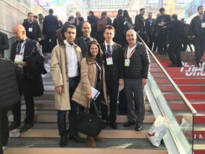 Desde New York: O presidente Xisto CDL Barra Mansa entre Isaque Farizel (diretor CDL Resende), José César da Costa (presidente da CNDL), Marcelo Mérida (presidente da FCDL) e Ana Paula (Produz, agência de Turismo)