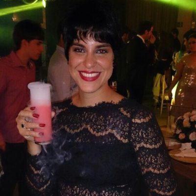 A 'restauranteur' Sarah Gorito Rezende num brinde de Ano Novo