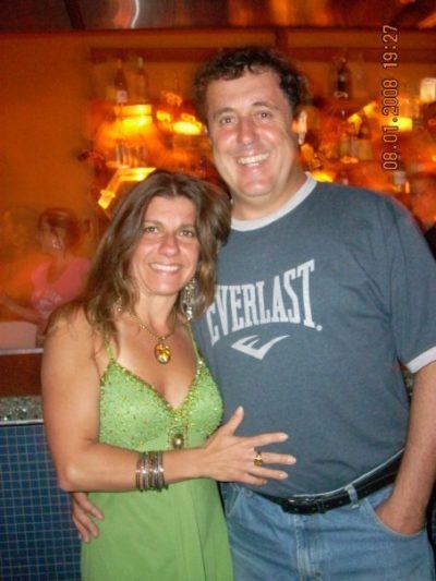 Júlio Ferreira (aniversariante do dia) e sua amada Janete, no Texas USA