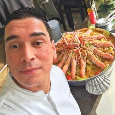 O chef Hugo Oliveira, assina Paella Valenciana