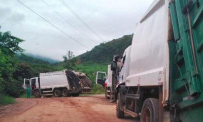 Angra dos Reis: Caminhões tiveram dificuldades de fazer o descarte do lixo com regularidade.
