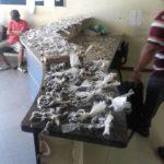 Drogas apreendidas foram levadas para a delegacia de Valença