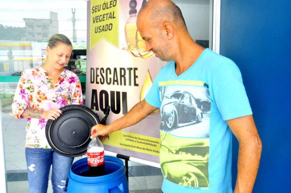 Certificado: Em 2017 a cidade deixou de lançar 30 toneladas de óleo vegetal de forma incorreta - Divulgação