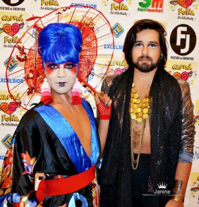 O 'Make Up' artist Bruno Chio e o estilista Romaniffi Mendonça