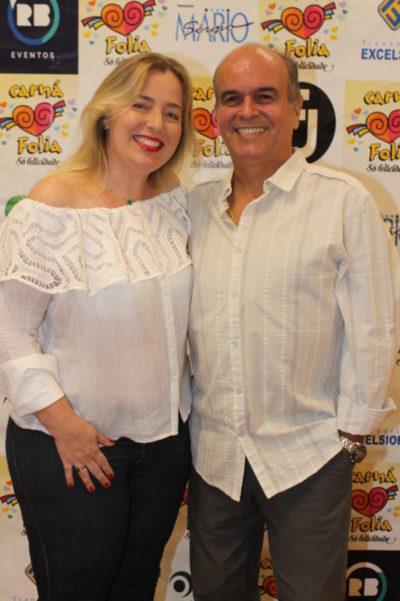O empresário Marco Baptista e Silva e Regina Eidintas