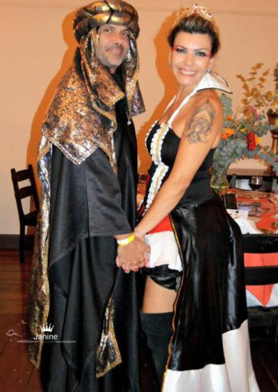 Ericka Joana, de Dama de Copas com seu amado, Príncipe das Arábias
