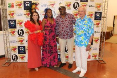 Luzia Andrade de Castro, Eunice Miguel da Cruz,  Amauri de Oliveira e  o dentista Jorge Pantaleão