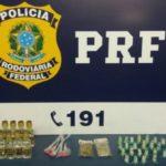 Polícia prende dois rapazes que transportavam drogas em moto