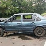 Procurado pela Justiça, bate de carro e foge deixando família (crédito PRF)