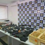 Armas apreendidas pela PRF podem ter vindo de outros países (crédito PRF)