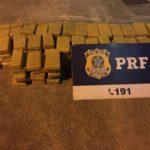 Flagrante: PRF encontra mais de 100 quilos de maconha em carro que tentou fugir de fiscalização