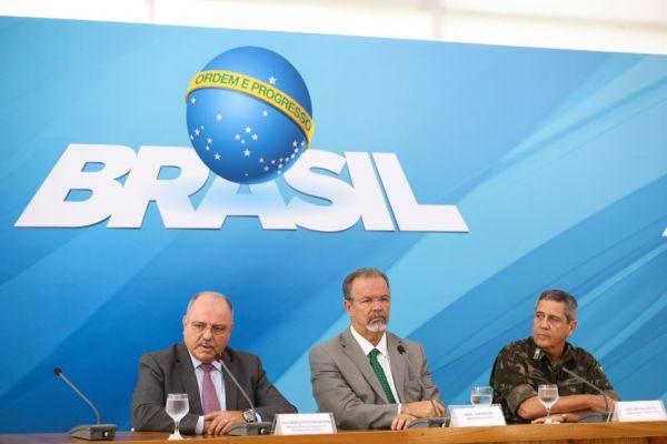 Ministros e o general Braga Netto falam sobre a intervenção no Rio