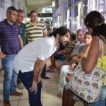 Prefeito visita Hospital São João Batista e fala com pacientes e funcionários (foto: Evandro Freitas - Secom)
