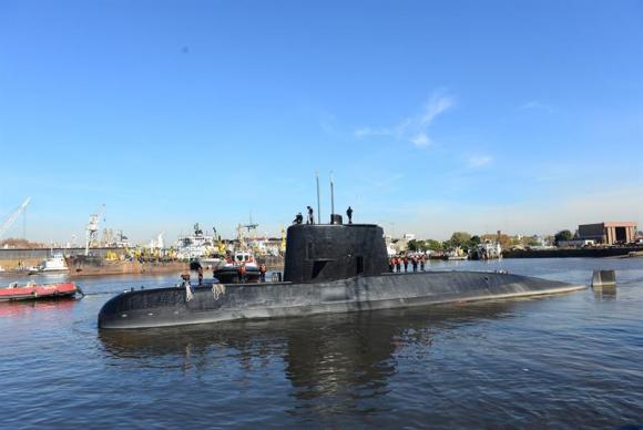 A recompensa poderá incentivar a busca do submarino argentino ARA San Juan (Arquivo/ Divulgação/Marinha da Argentina)