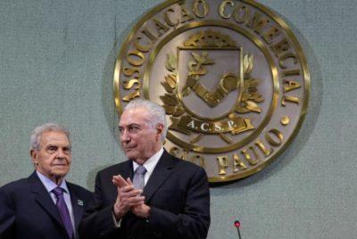 O presidente Michel Temer fala sobre a intervenção no Rio de Janeiro (crédito AB)