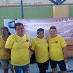 Caminhada: Moradoras do município participam de atividades sociais, culturais e recreativas na quadra do bairro - Divulgação